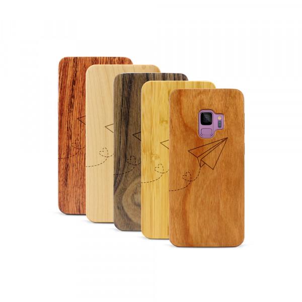 Galaxy S9 Hülle Paper Plane aus Holz