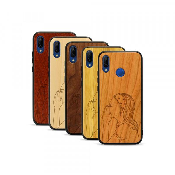 P20 lite Hülle Pop Art - Gossip aus Holz