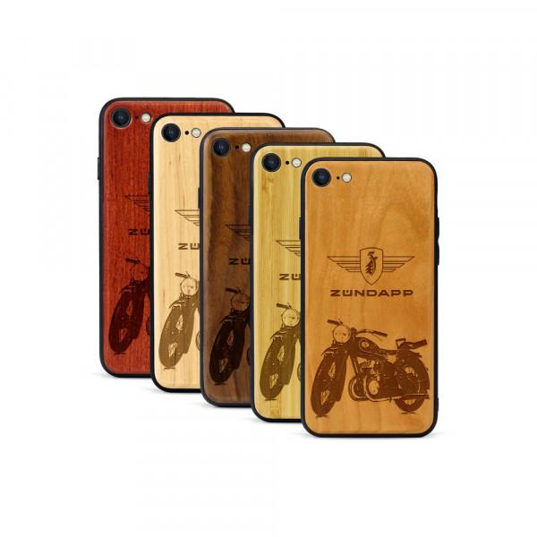 iPhone 8 & SE Hülle Zündapp DB 200 aus Holz