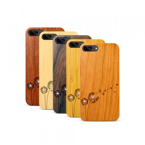 iPhone 7 & 8 Plus Hülle Pusteblume Swarovski® Kristalle aus Holz