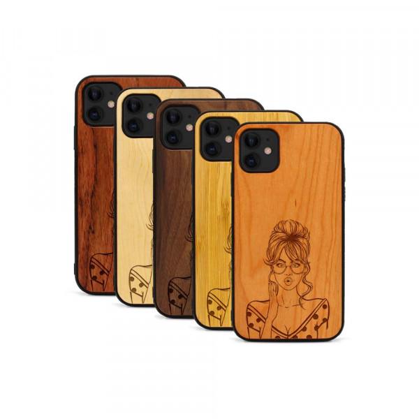 iPhone 11 Hülle Pop Art - Surprised aus Holz