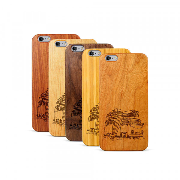iPhone 6 & 6S Plus Hülle Camper Van aus Holz