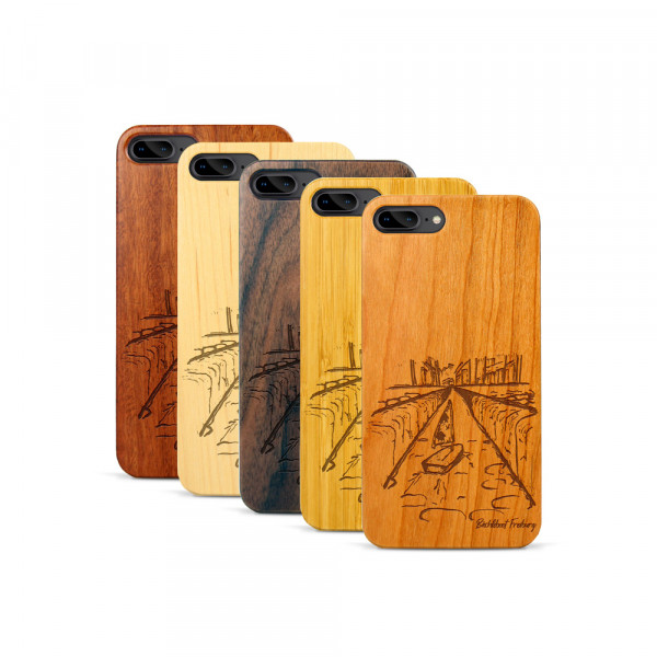 iPhone 7 & 8 Plus Hülle Freiburg Bächleboot aus Holz