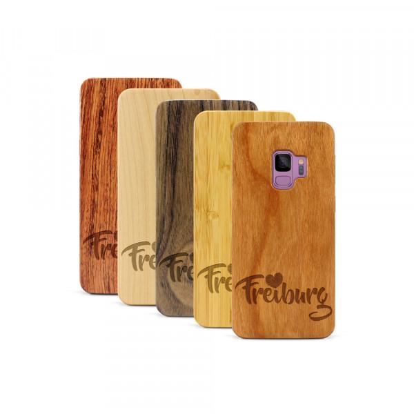 Galaxy S9 Hülle Love Freiburg aus Holz