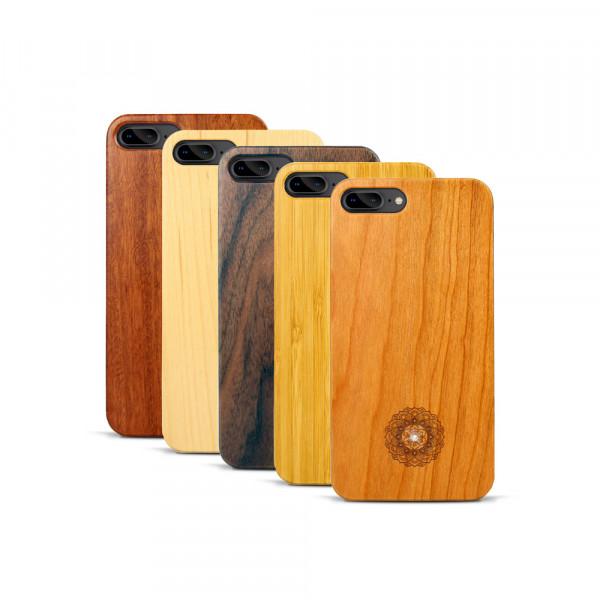 iPhone 7 & 8 Plus Hülle Mandala Swarovski® Kristalle aus Holz