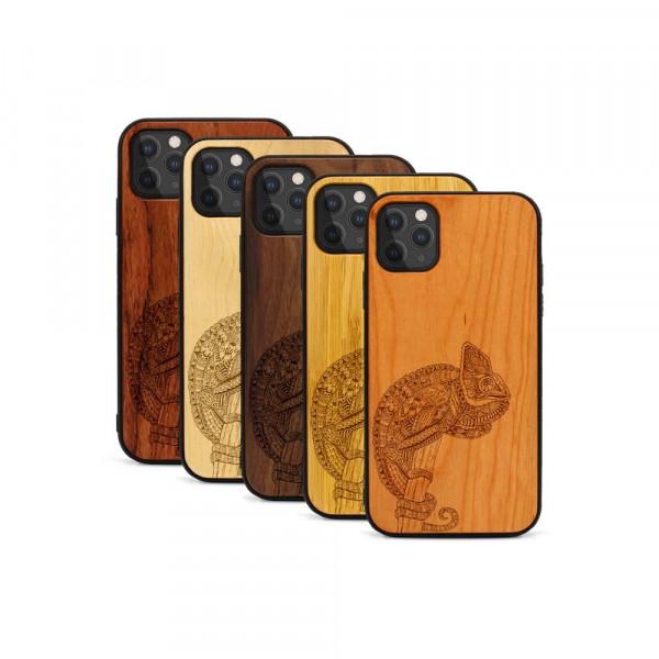 iPhone 11 Pro Max Hülle Chamäleon aus Holz