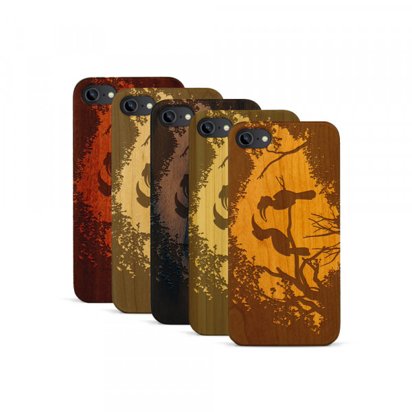 iPhone 7 Hülle Wildlife Paradiesvögel aus Holz