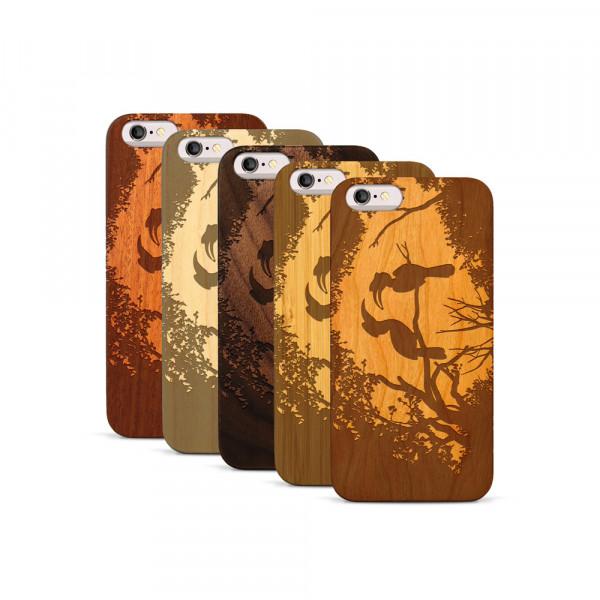 iPhone 6 & 6S Hülle Wildlife Paradiesvögel aus Holz