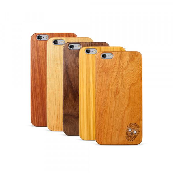 iPhone 6 & 6S Plus Hülle Totenkopf Swarovski® Kristalle aus Holz