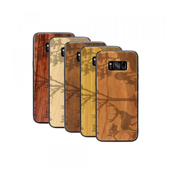Galaxy S8+ Hülle Wildlife Hirsch aus Holz