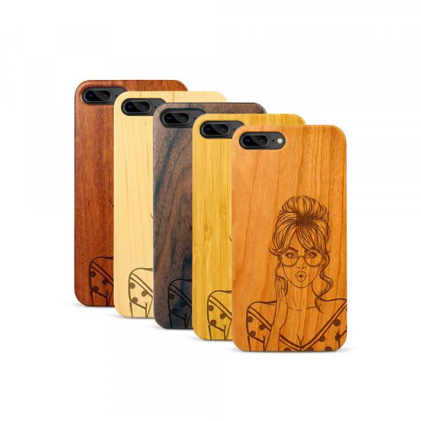 iPhone 7 & 8 Plus Hülle Pop Art Surprised aus Holz
