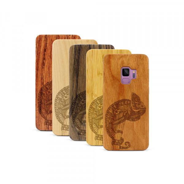 Galaxy S9 Hülle Chamäleon aus Holz