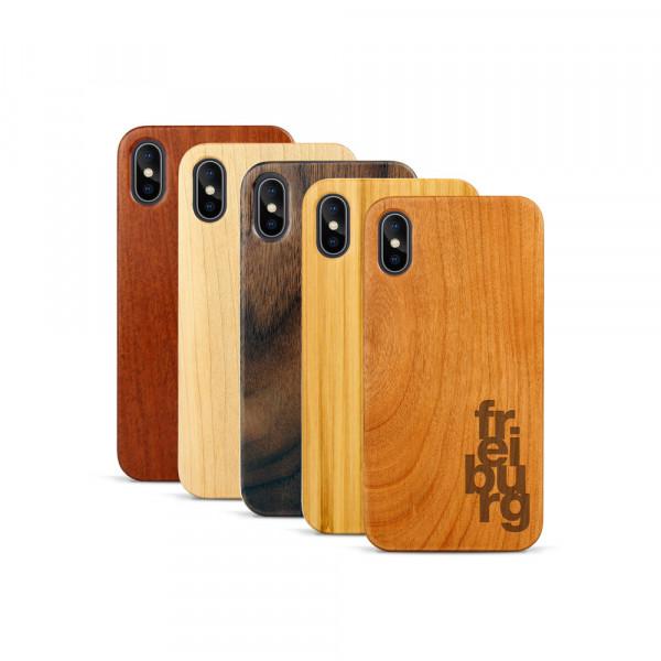 iPhone X & Xs Hülle fr ei bu rg aus Holz
