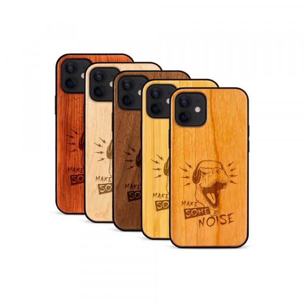 iPhone 12 Mini Hülle T-Rex aus Holz