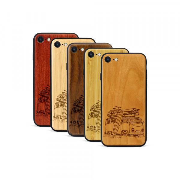 iPhone 8 & SE Hülle Camper Van aus Holz