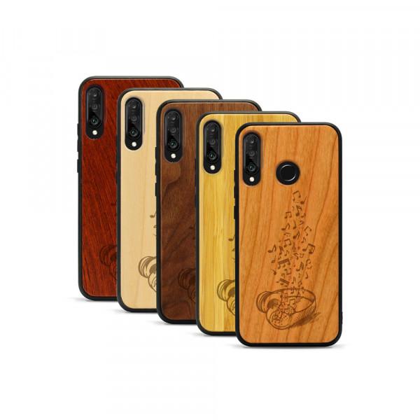 P30 lite Hülle Headphones aus Holz