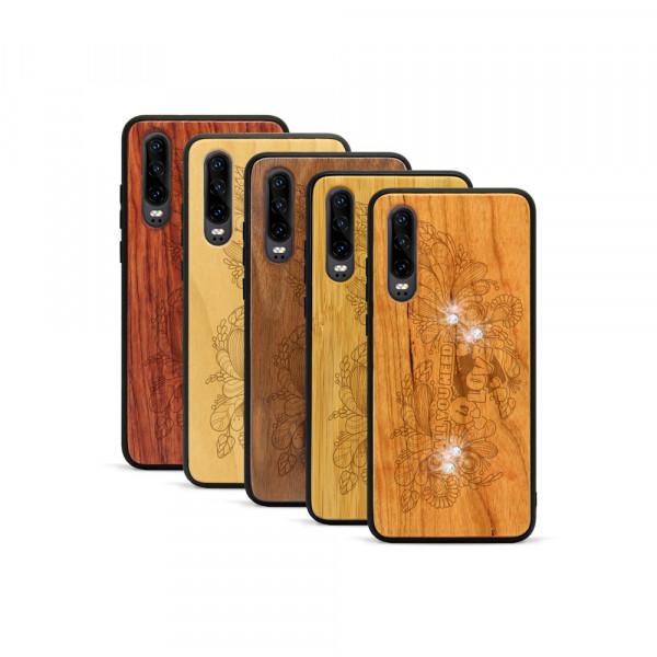 P30 Hülle All you need Swarovski® Kristalle aus Holz