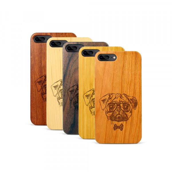 iPhone 7 & 8 Plus Hülle Fashion Mops aus Holz