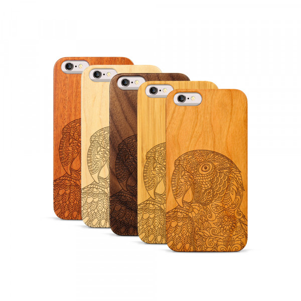 iPhone 6 & 6S Hülle Papagei aus Holz
