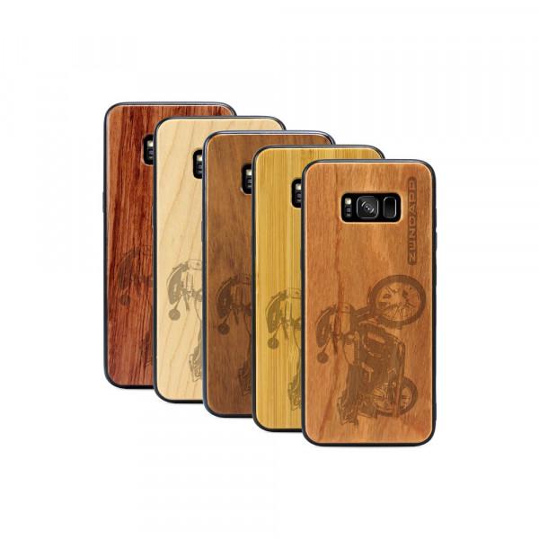 Galaxy S8 Hülle Zündapp KS 80 aus Holz