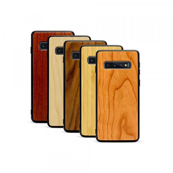 Galaxy S10+ Hülle aus Holz ohne Gravur