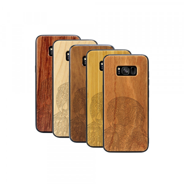 Galaxy S8+ Hülle Papagei aus Holz