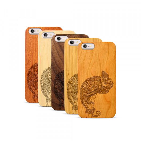 iPhone 6 & 6S Hülle Chamäleon aus Holz