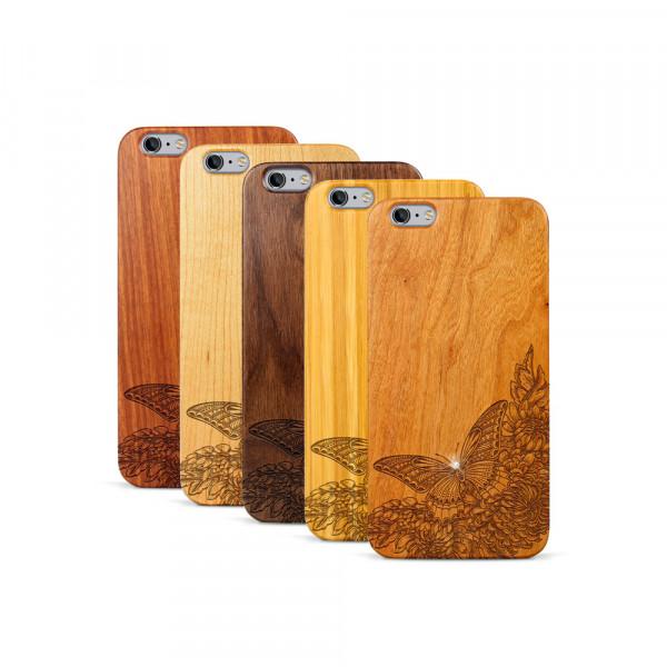 iPhone 6 & 6S Plus Hülle Schmetterling Swarovski® Kristalle aus Holz
