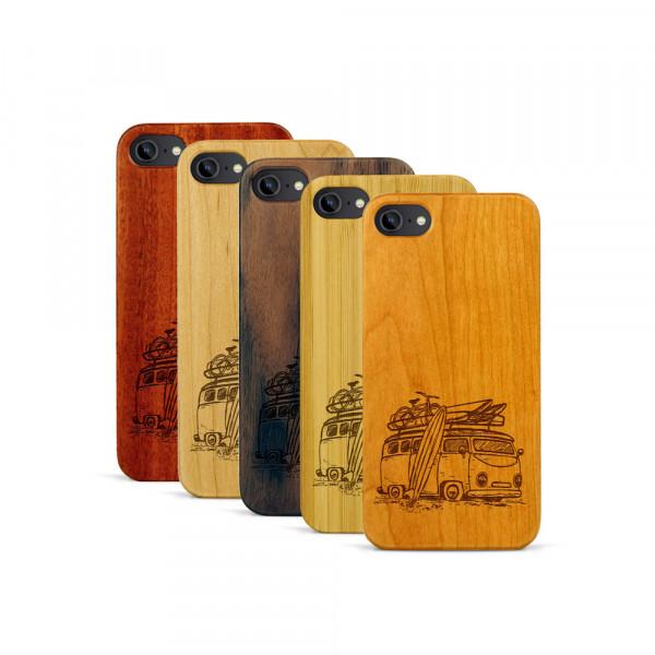 iPhone 7 Hülle Camper Van aus Holz