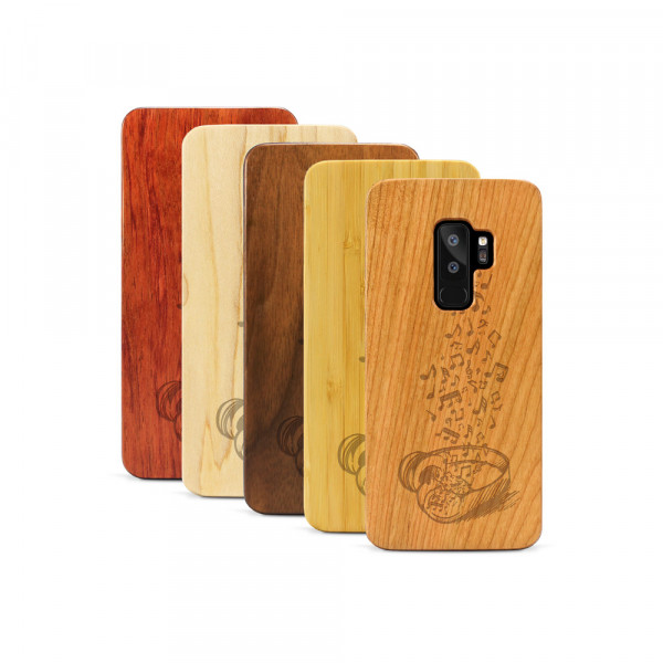 Galaxy S9+ Hülle Headphones aus Holz