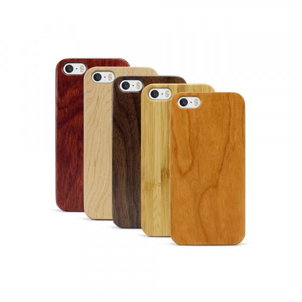 iPhone 5, 5S & SE Hülle aus Holz ohne Gravur