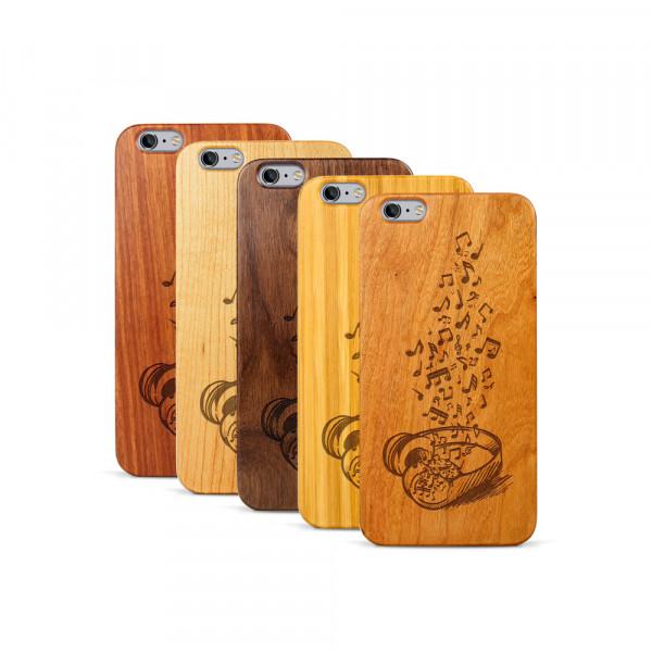 iPhone 6 & 6S Plus Hülle Headphones aus Holz
