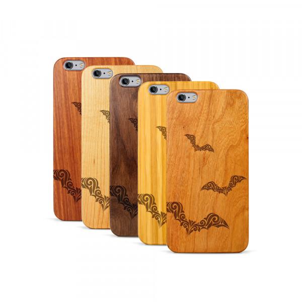 iPhone 6 & 6S Plus Hülle Fledermaus Ornamente aus Holz
