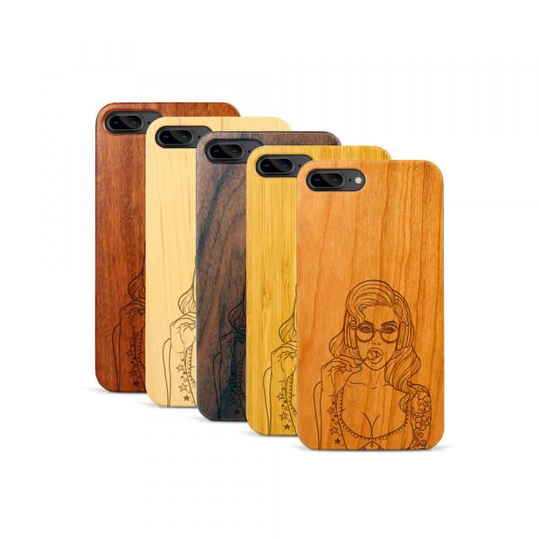 iPhone 7 & 8 Plus Hülle Lolli Pop Art aus Holz