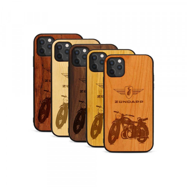 iPhone 11 Pro Hülle Zündapp DB 200 aus Holz