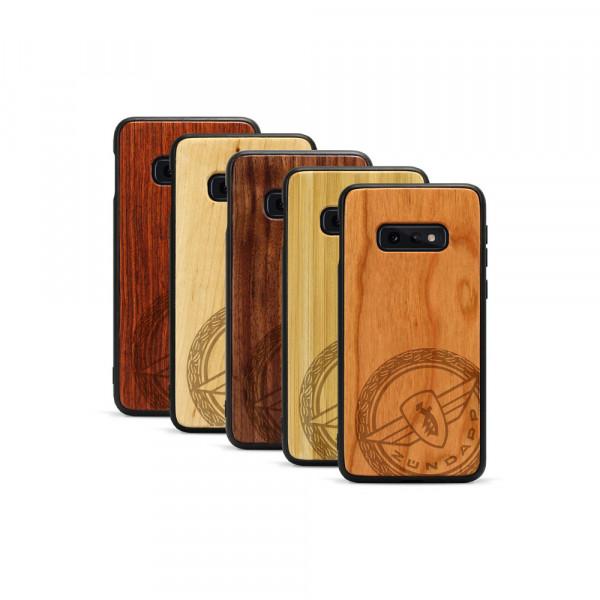 Galaxy S10e Hülle Zündapp Logo Klassik aus Holz