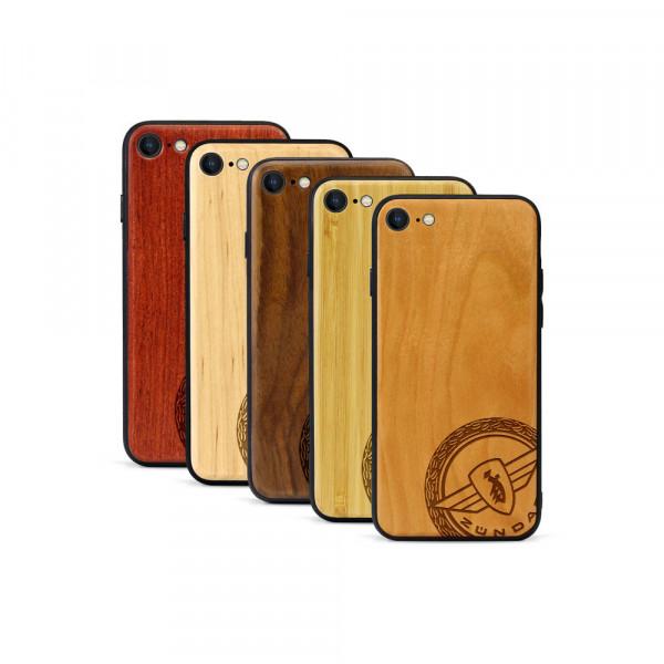 iPhone 8 & SE Hülle Zündapp Logo Klassik aus Holz