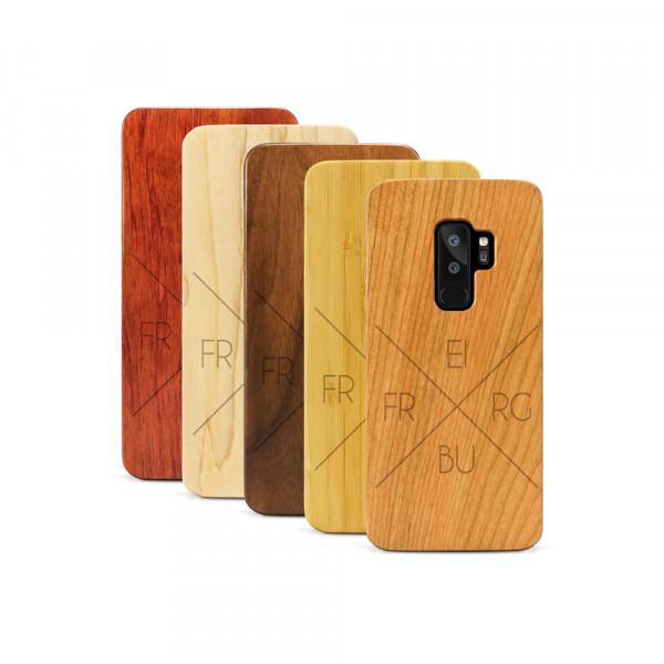 Galaxy S9+ Hülle Freiburg X-Cross aus Holz