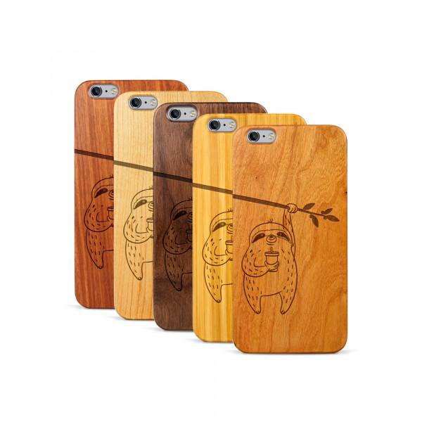 iPhone 6 & 6S Plus Hülle Faultier aus Holz
