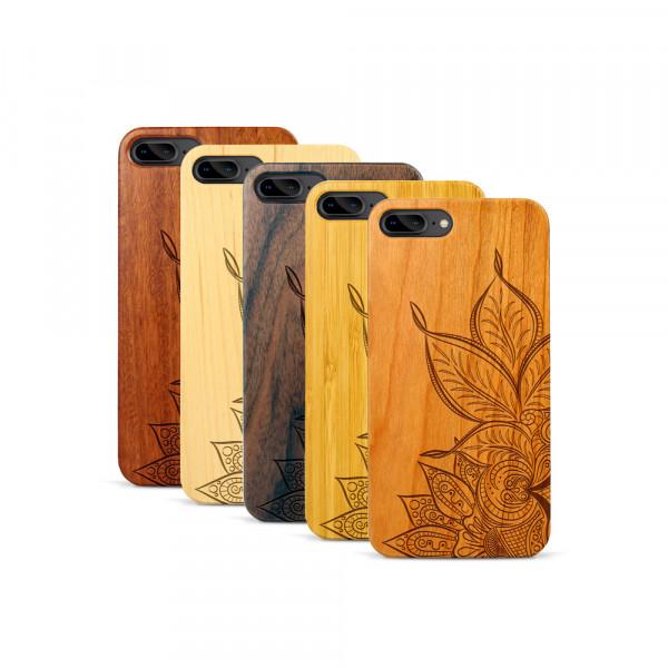 iPhone 7 & 8 Plus Hülle Mandala aus Holz