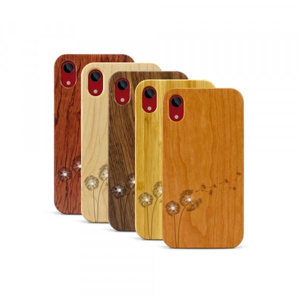 iPhone XR Hülle Pusteblume Swarovski® Kristalle aus Holz