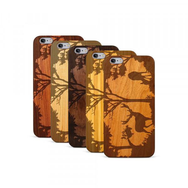 iPhone 6 & 6S Plus Hülle Wildlife Hirsch aus Holz