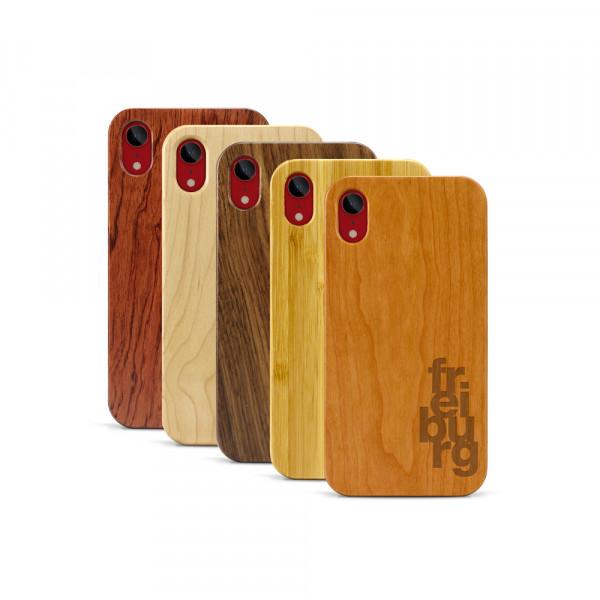 iPhone XR Hülle fr ei bu rg aus Holz