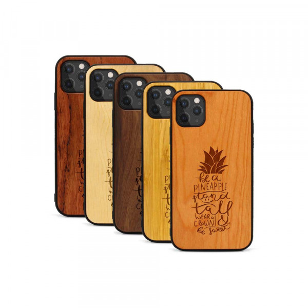 iPhone 11 Pro Hülle Be a Pineapple aus Holz
