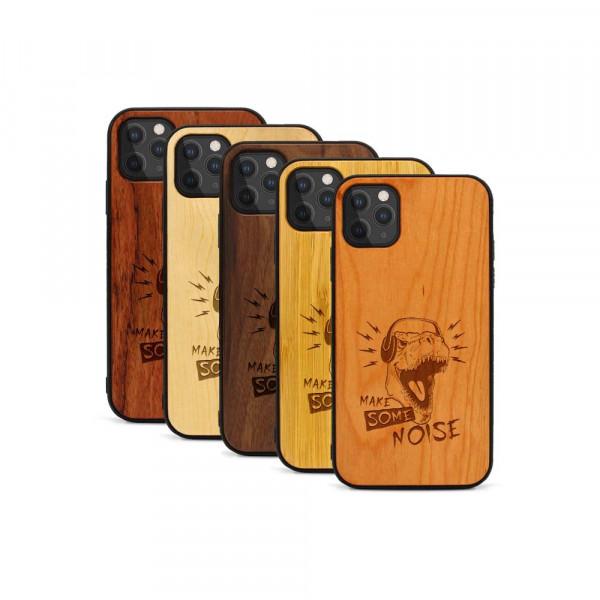 iPhone 11 Pro Max Hülle T-Rex aus Holz