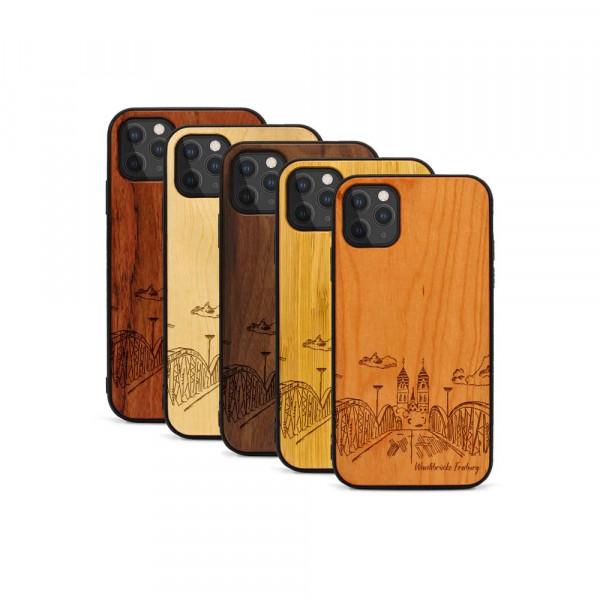 iPhone 11 Pro Hülle Freiburg Wiwilíbrücke aus Holz