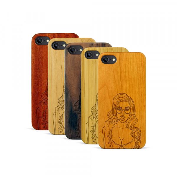 iPhone 7 Hülle Lolli Pop Art aus Holz