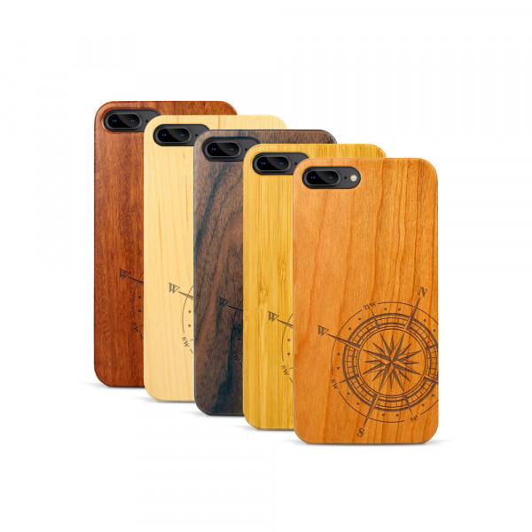 iPhone 7 & 8 Plus Hülle Kompass aus Holz