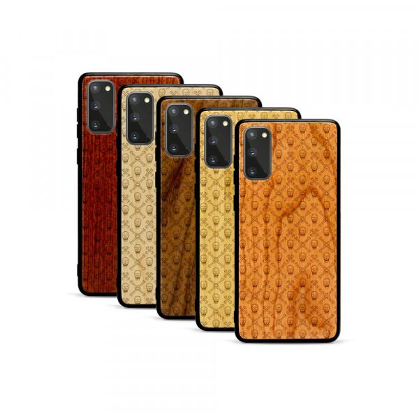 Galaxy S20 Hülle Totenkopf Pattern aus Holz