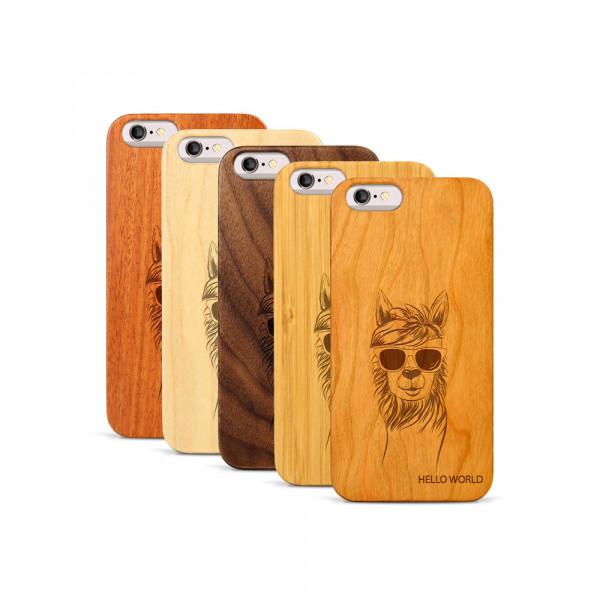 iPhone 6 & 6S Hülle LLama aus Holz